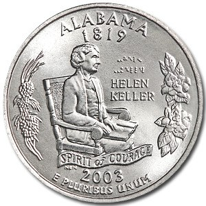 2003-P Alabama State Quarter BU