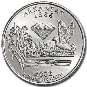 2003-P Arkansas State Quarter BU