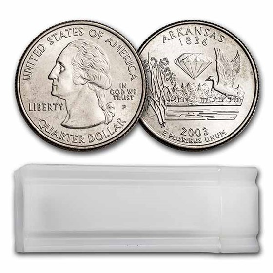 2003-P Arkansas Statehood Quarter 40-Coin Roll BU