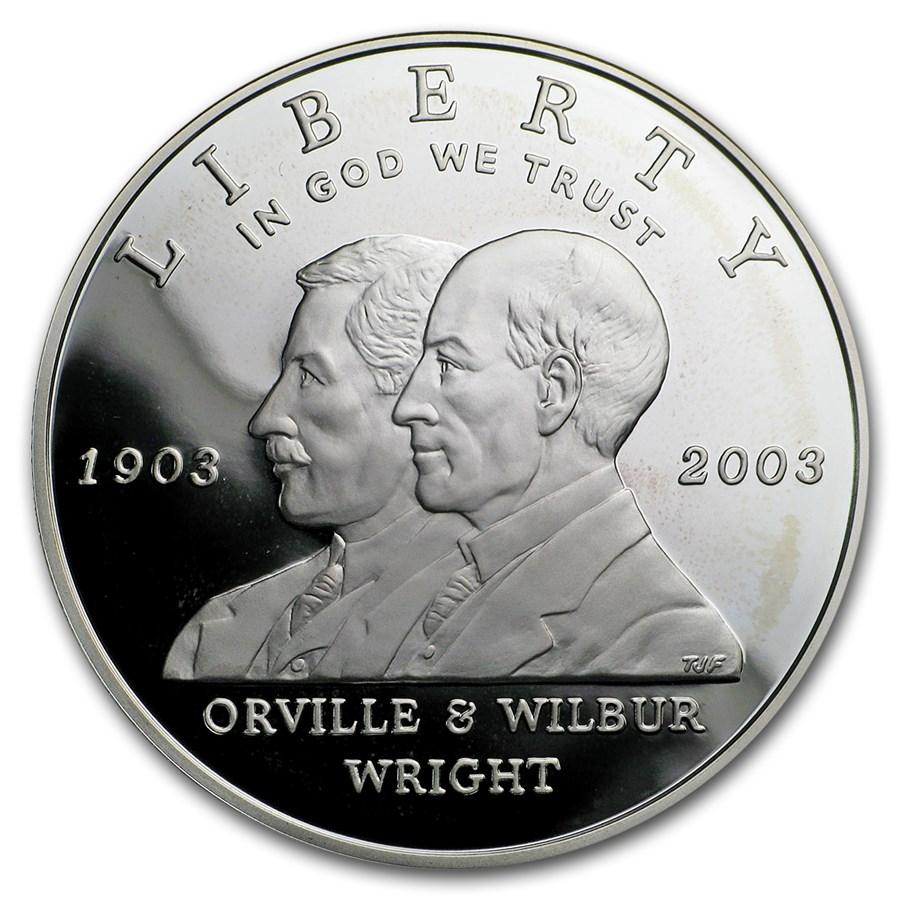 2003-P First Flight Centennial $1 Silver Commem Proof (Capsule)