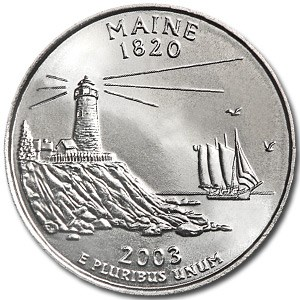 2003-P Maine State Quarter BU