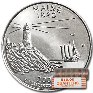2003-P Maine Statehood Quarter 40-Coin Roll BU