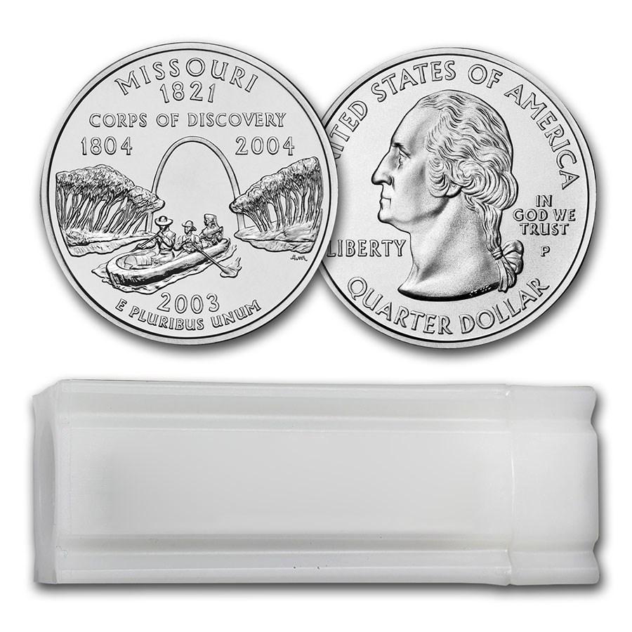 2003-P Missouri Statehood Quarter 40-Coin Roll BU