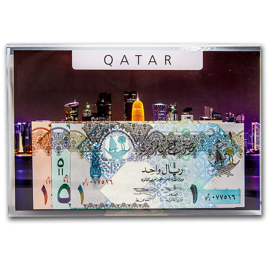 2003 Qatar 1-10 Riyals Banknotes Set Unc
