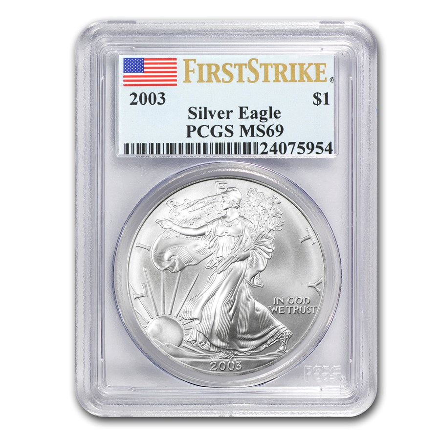 2003 Silver American Eagle MS-69 PCGS (FirstStrike®)
