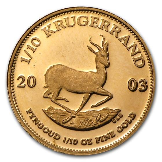 2003 South Africa 1/10 oz Gold Proof Krugerrand
