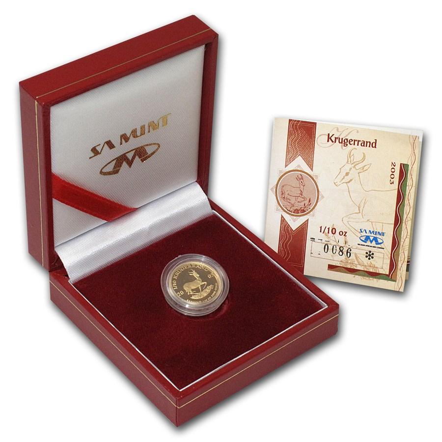 2003 South Africa 1/10 oz Proof Gold Krugerrand