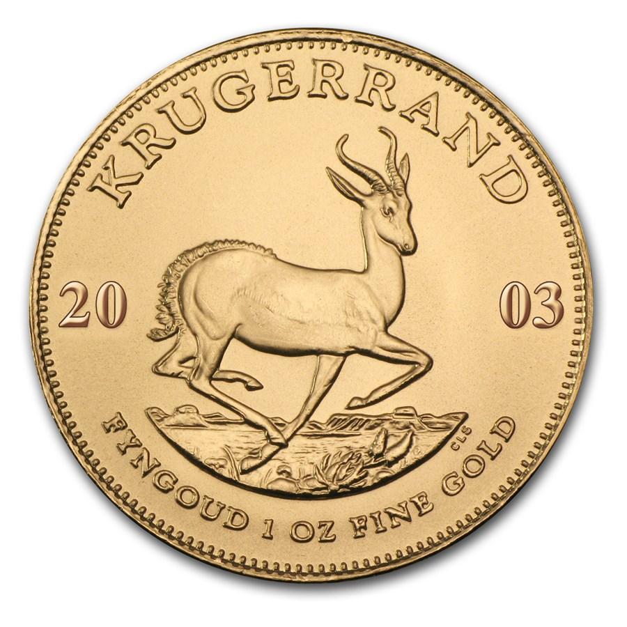 2003 South Africa 1 oz Gold Krugerrand BU