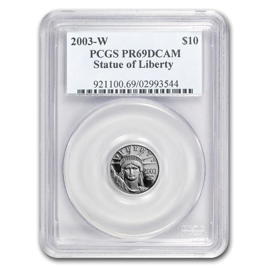 2003-W 1/10 oz Proof American Platinum Eagle PR-69 PCGS