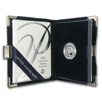 2003-W 1/10 oz Proof American Platinum Eagle (w/Box & COA)