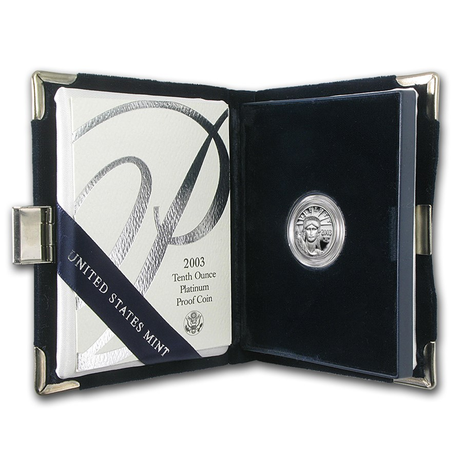 2003-W 1/10 oz Proof American Platinum Eagle (w/Box & COA)