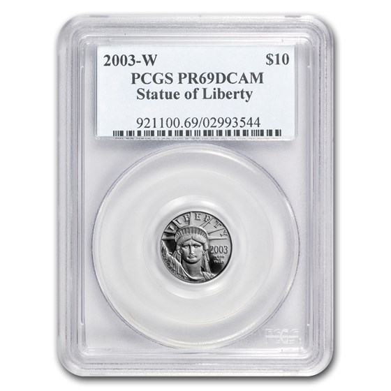 2003-W 1/10 oz Proof Platinum American Eagle PR-69 PCGS