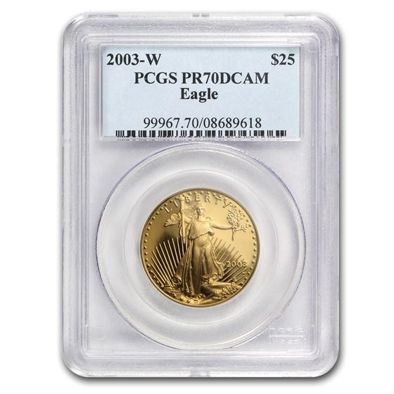 2003-W 1/2 oz Proof American Gold Eagle PR-70 PCGS