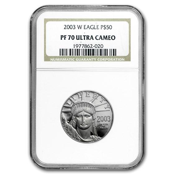 2003-W 1/2 oz Proof American Platinum Eagle PF-70 NGC