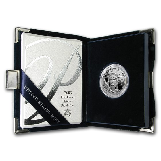 2003-W 1/2 oz Proof American Platinum Eagle (w/Box & COA)