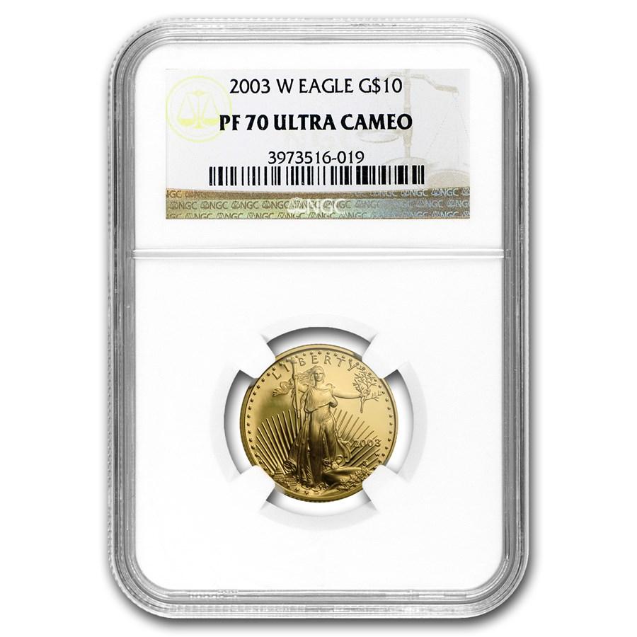 2003-W 1/4 oz Proof American Gold Eagle PF-70 UCAM NGC