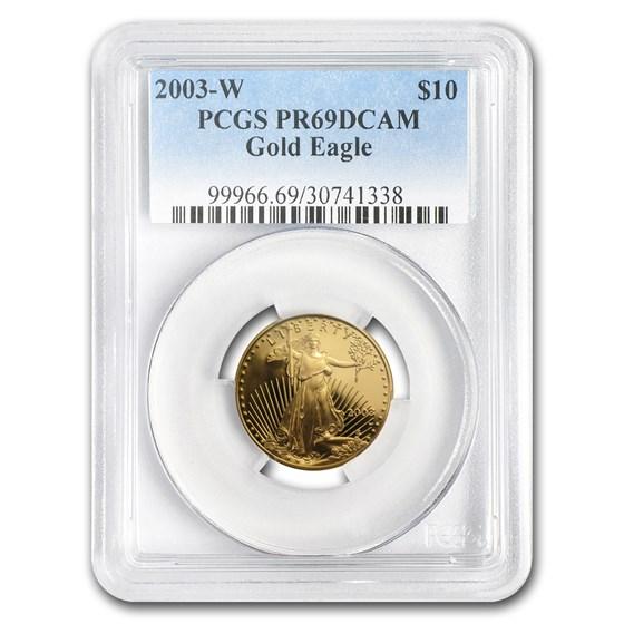 2003-W 1/4 oz Proof American Gold Eagle PR-69 DCAM PCGS