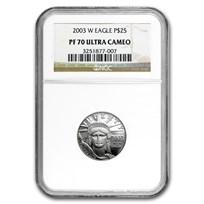 2003-W 1/4 oz Proof American Platinum Eagle PF-70 NGC
