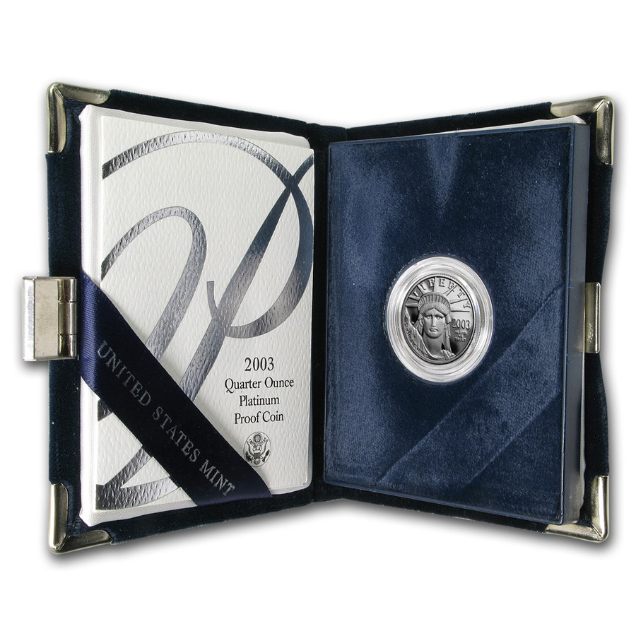 2003-W 1/4 oz Proof American Platinum Eagle (w/Box & COA)