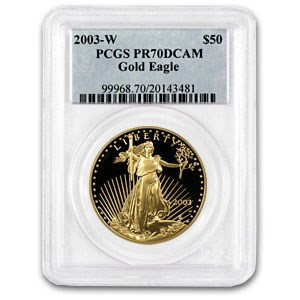 2003-W 1 oz Proof American Gold Eagle PR-70 PCGS