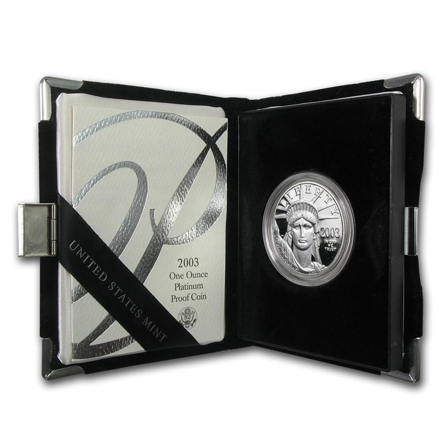 2003-W 1 oz Proof American Platinum Eagle (w/Box & COA)