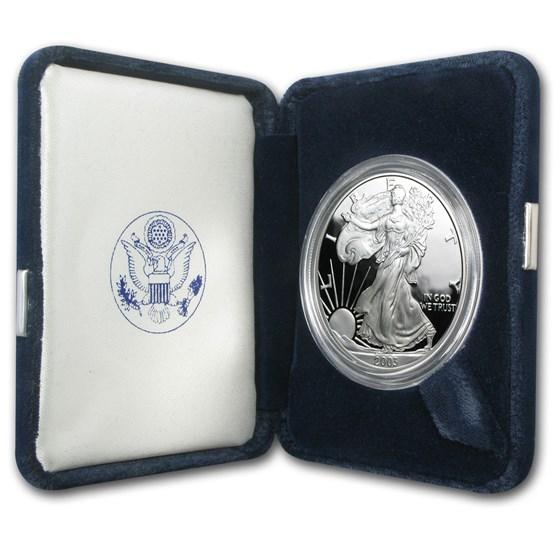 2003-W 1 oz Proof American Silver Eagle (w/Box & COA)