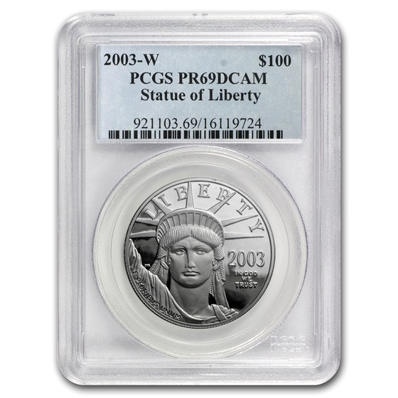 2003-W 1 oz Proof Platinum American Eagle PR-69 PCGS