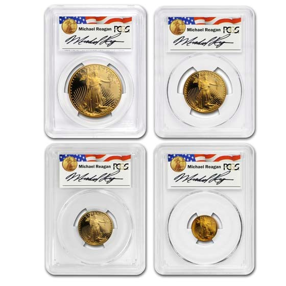 2003-W 4-Coin Proof American Gold Eagle Set PR-70 PCGS