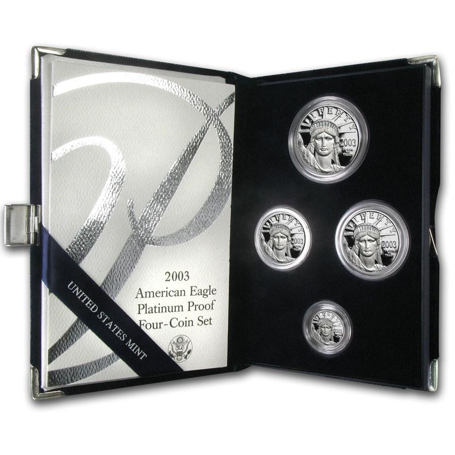 2003-W 4-Coin Proof American Platinum Eagle Set (w/Box & COA)