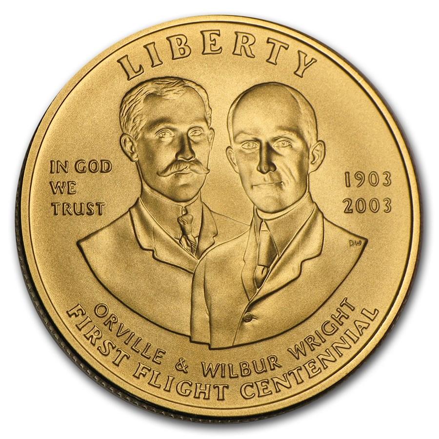 2003-W Gold $10 Commem First Flight Centennial BU (w/Box & COA)