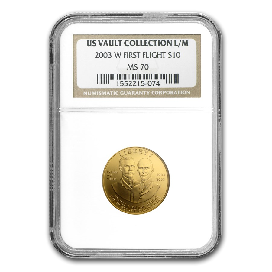 2003-W Gold $10 Commem First Flight Centennial MS-70 NGC