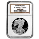 2003-W Proof American Silver Eagle PF-70 NGC