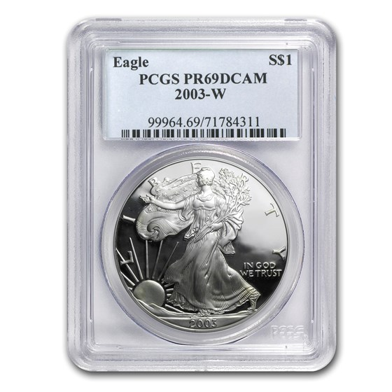 2003-W Proof American Silver Eagle PR-69 PCGS