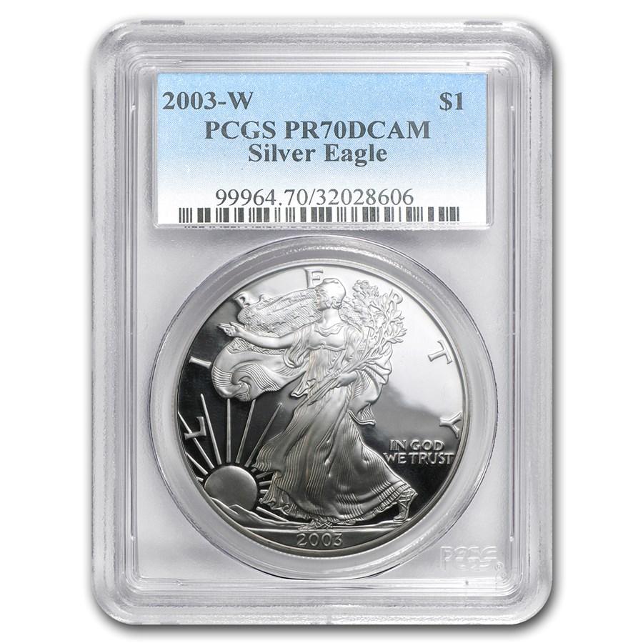 2003-W Proof American Silver Eagle PR-70 PCGS