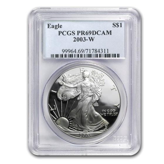 2003-W Proof Silver American Eagle PR-69 PCGS