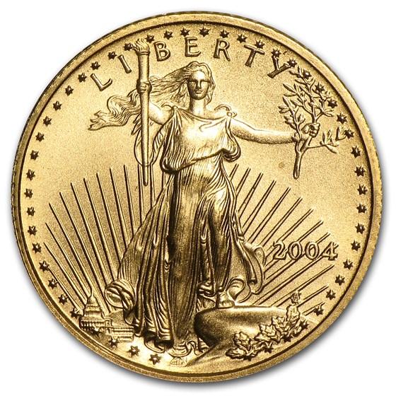 2004 1/10 oz American Gold Eagle BU