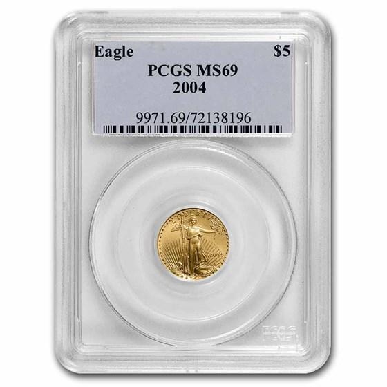2004 1/10 oz American Gold Eagle MS-69 PCGS