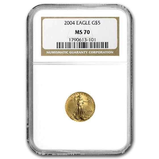 2004 1/10 oz American Gold Eagle MS-70 NGC