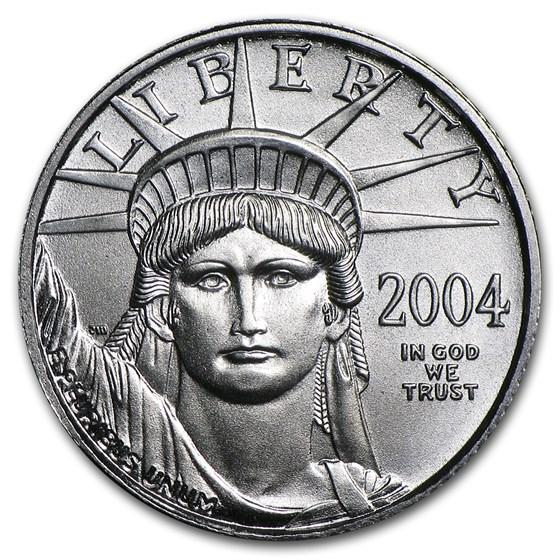 2004 1/10 oz American Platinum Eagle BU