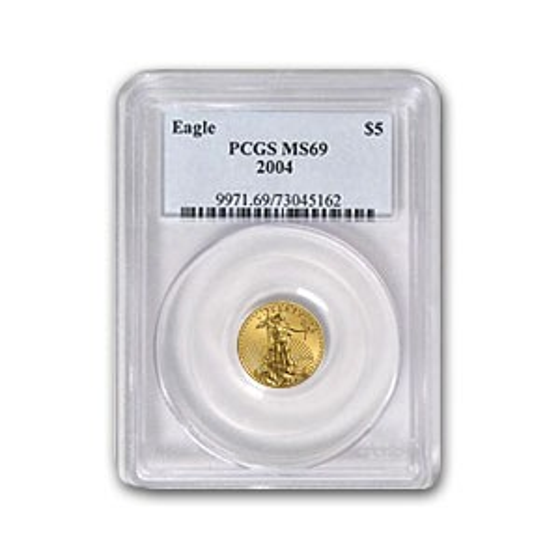2004 1/10 oz Gold American Eagle MS-69 PCGS