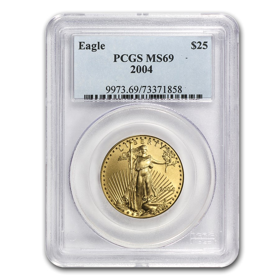 2004 1/2 oz American Gold Eagle MS-69 PCGS