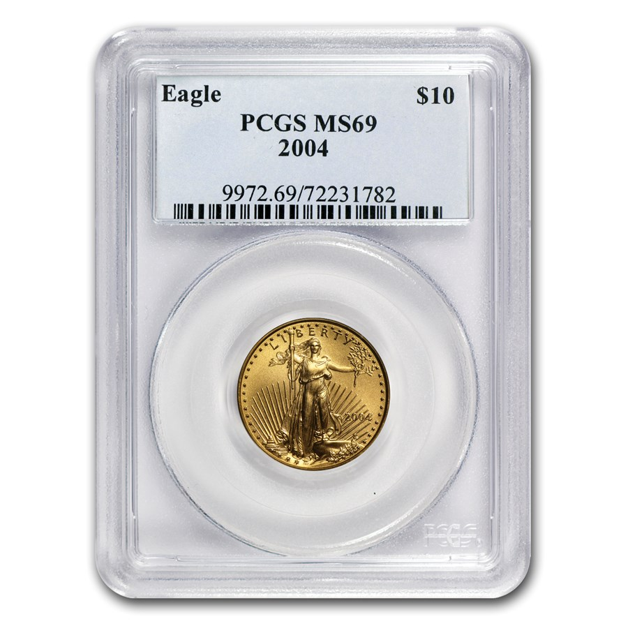 2004 1/4 oz American Gold Eagle MS-69 PCGS