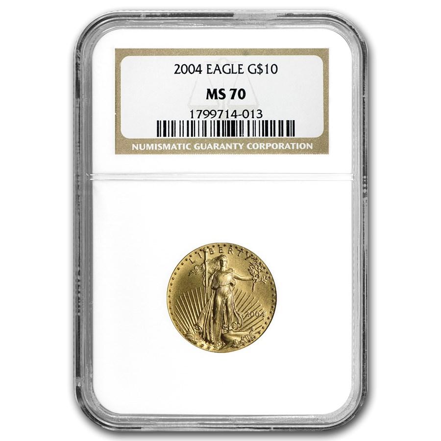 2004 1/4 oz American Gold Eagle MS-70 NGC