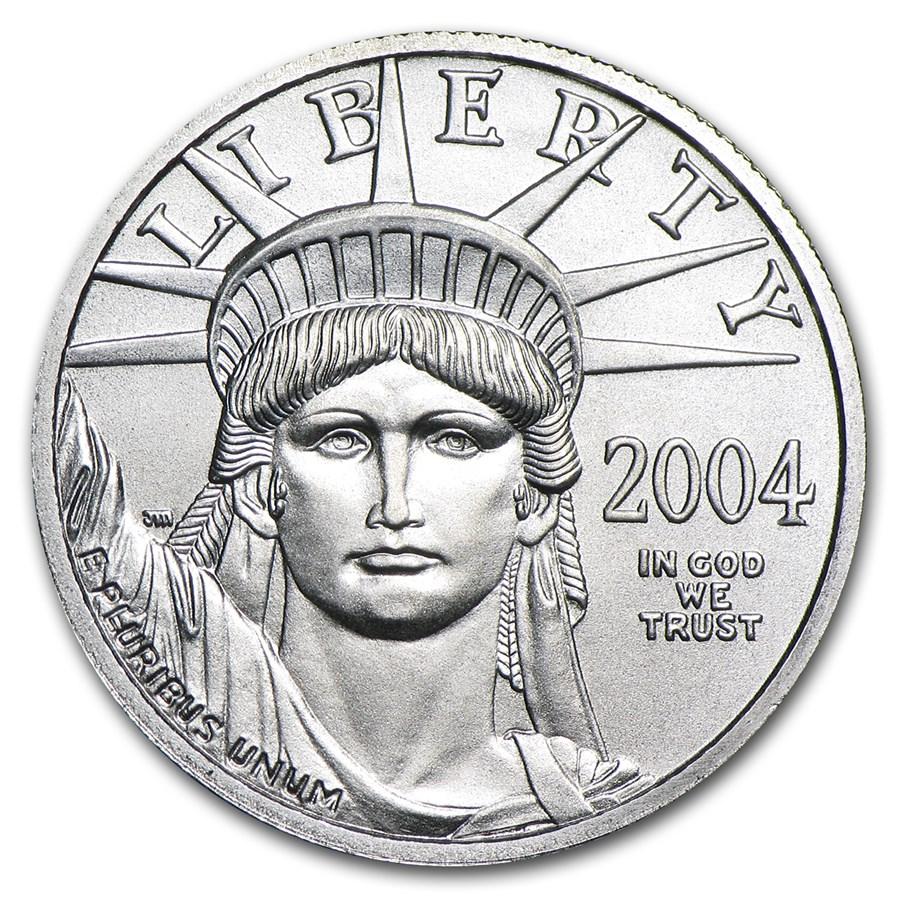 2004 1/4 oz American Platinum Eagle BU