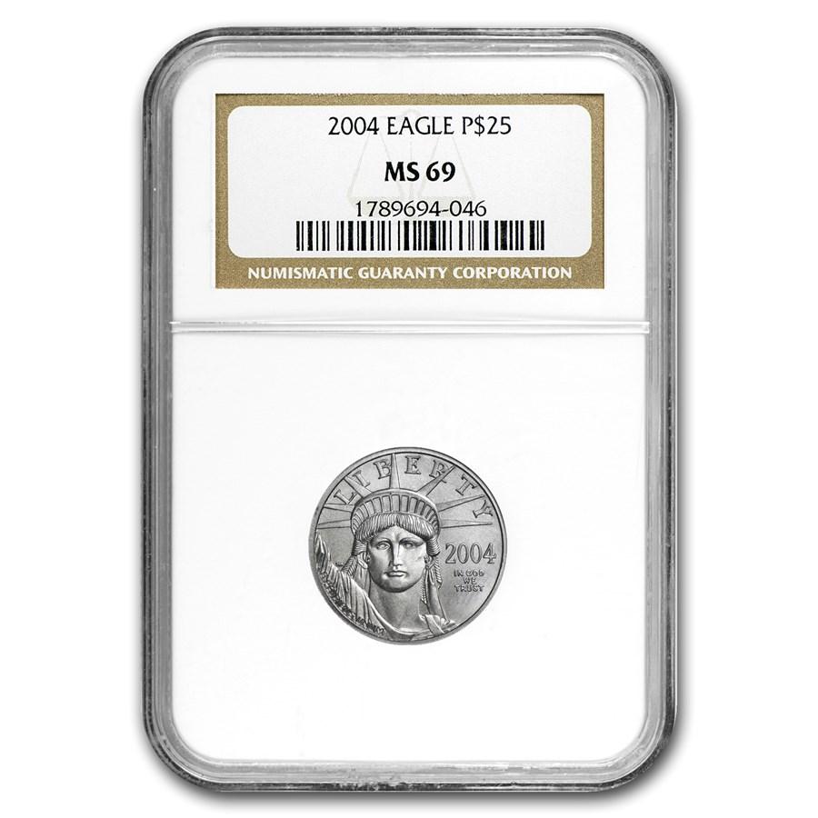 2004 1/4 oz American Platinum Eagle MS-69 NGC