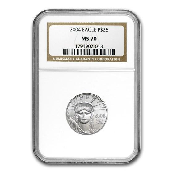 2004 1/4 oz American Platinum Eagle MS-70 NGC