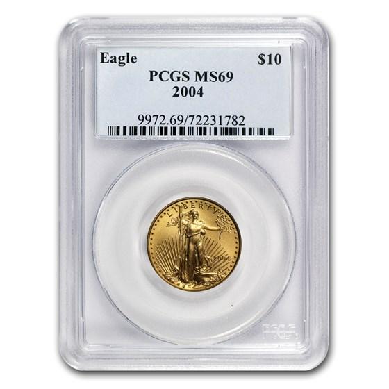 2004 1/4 oz Gold American Eagle MS-69 PCGS