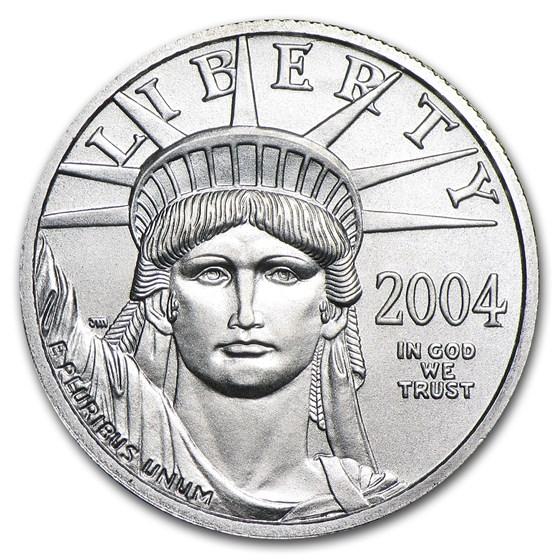 2004 1/4 oz Platinum American Eagle BU