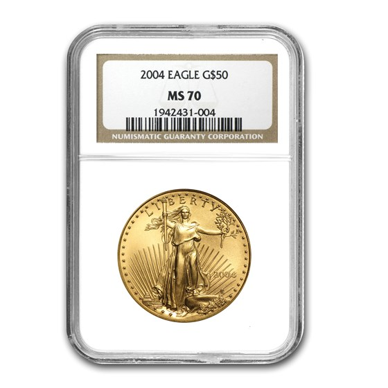 2004 1 oz American Gold Eagle MS-70 NGC