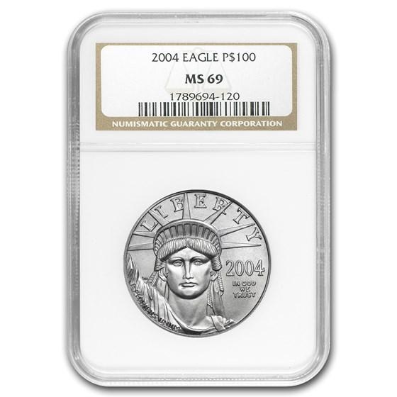 2004 1 oz American Platinum Eagle MS-69 NGC